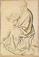Etude of figure the evangelist, weyden
