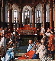 Exhumation of Saint Hubert, 1440, weyden
