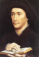 Man holding book, weyden