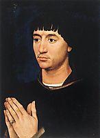 Portrait of Jean de Gros, 1450, weyden
