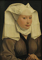 Portrait of a Young Woman in a Pinned Hat, 1435, weyden