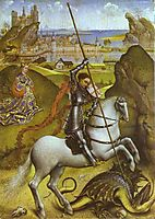 Saint George and the Dragon, 1435, weyden