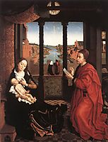St. Luke Drawing a Portrait of the Virgin Mary, 1440, weyden
