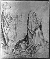 The Virgin kneeling and praying behind St. Peter, weyden