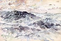 Arrangement in Blue and Silver - The Great Sea, c.1885, whistler