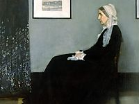 Arrangement in Grey and Black No.1, Portrait of the Artist-s Mother, 1871, whistler