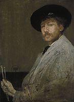 Arrangement in Grey: Portrait of the Painter, c.1872, whistler