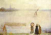 Battersea Reach from Lindsey Houses, c.1863, whistler