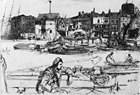 Black Lion Wharf, 1859, whistler