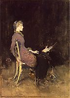 Black and Red, 1884, whistler