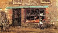 Blue and Orange: The Sweet Shop, 1884, whistler