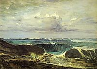 Blue and Silver - The Blue Wave Biarritz, 1862, whistler