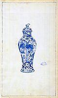 Blue and White Covered Urn, whistler