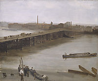 Brown and Silver: Old Battersea Bridge, 1859, whistler