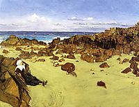 The Coast of Brittany (aka Alone with the Tide), 1861, whistler