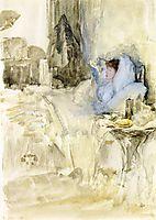 Convalescent (aka Petit Dejeuner; note in opal), 1884, whistler