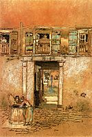 Courtyard and Canal, 1880, whistler