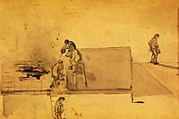 A Fire at Pomfret, c.1850, whistler
