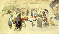 Flower Market, 1885, whistler