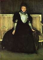 Green and Violet Portrait of Mrs. Walter Sickert, 1886, whistler