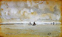 Grey Note - Mouth of the Thames, c.1885, whistler