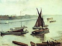 Grey and Silver Old Battersea Reach, 1863, whistler