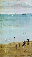 Harmony in Blue and Pearl: The Sands, Dieppe, c.1885, whistler