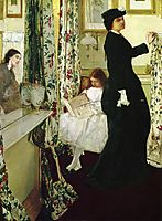 Harmony in Green and Rose: The Music Room, 1861, whistler