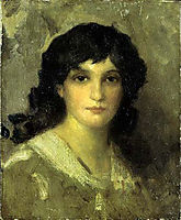 Head of a Young Woman, c.1890, whistler