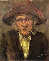 Man smoking a pipe, c.1859, whistler