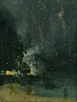 Nocturne in Black and Gold, the Falling Rocket, c.1875, whistler