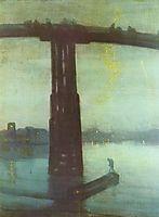 Nocturne: Blue and Gold – Old Battersea Bridge, 1875, whistler