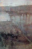 Nocturne in Blue and Gold Valparaiso Bay, 1866, whistler