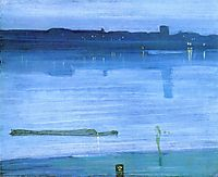 Nocturne, Blue and Silver: Chelsea, 1871, whistler