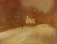 Nocturne in Gray and Gold snow in Chelsea, whistler
