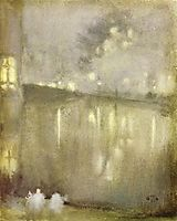 Nocturne Grey and Gold - Canal, 1884, whistler