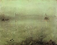 Nocturne - Silver and Opal, c.1889, whistler