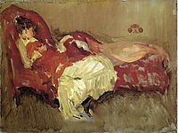 Note in Red, The Siesta, 1875, whistler