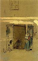 The Open Door, c.1901, whistler
