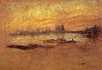 Red and Gold: Salute, Sunset, 1880, whistler