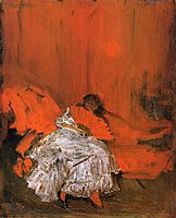 Red and Pink The Little Mephisto, c.1884, whistler