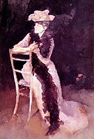 Rose and Silver Portrait of Mrs Whibley, 1895, whistler