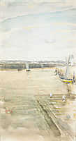Scene on the Mersey, whistler