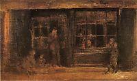 A Shop, 1890, whistler
