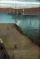 Sketch for Nocturne in Blue and Gold Valparaiso Bay, 1866, whistler
