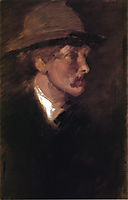 Study of a Head, c.1885, whistler