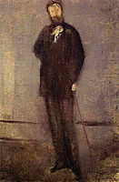 Study for the Portrait of F. R. Leyland , 1873, whistler