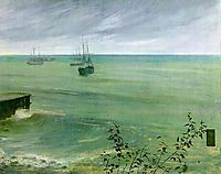 Symphony in Grey and Green: The Ocean , 1872, whistler