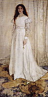 Symphony in White no.10: The White Girl Portrait of Joanna Hiffernan, 1862, whistler