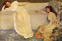 Symphony in White, No. 3, 1867, whistler